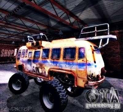Bullet Storm Bus для GTA San Andreas вид сзади