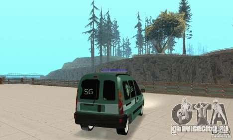 Renault Kangoo Straz Graniczna для GTA San Andreas вид слева
