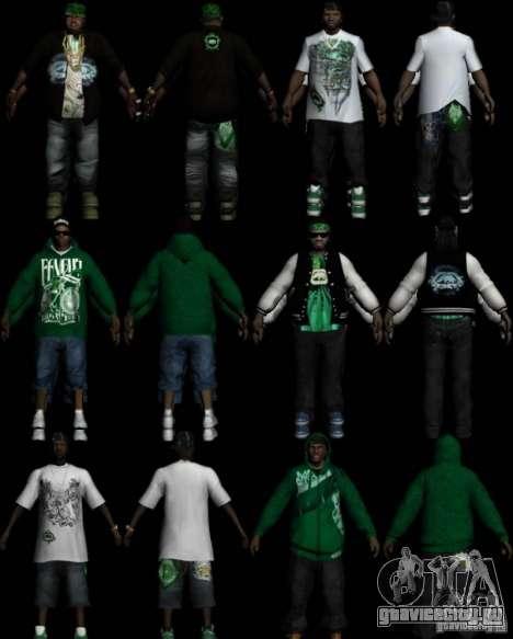Новая одежда Банды Groove Street для GTA San Andreas