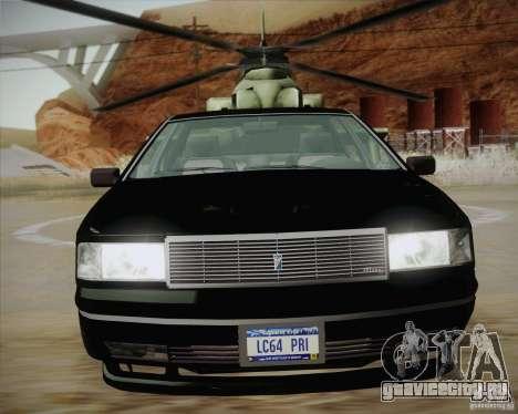 GTA IV Primo для GTA San Andreas вид сзади слева