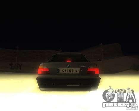 BMW 740i Update для GTA San Andreas вид сзади слева