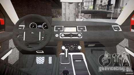Range Rover Sport для GTA 4 вид сзади