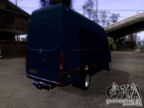 Volkswagen Crafter XL для GTA San Andreas вид сзади слева