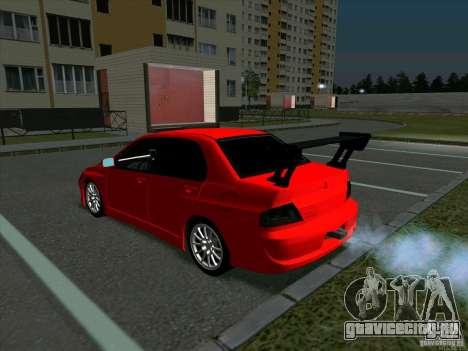 Mitsubishi Lancer Drift для GTA San Andreas вид справа