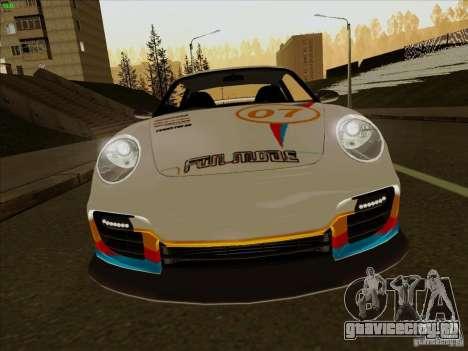 Porsche 997 GT2 Fullmode для GTA San Andreas вид изнутри