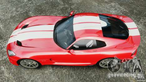 SRT Viper GTS 2013 для GTA 4 вид справа
