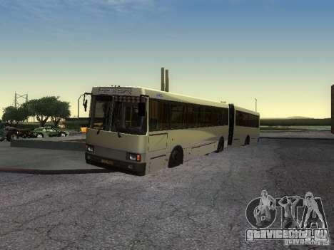 ЛАЗ-А291 для GTA San Andreas вид сзади слева