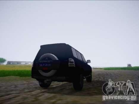 Mitsubishi Pajero 2012 для GTA San Andreas вид справа