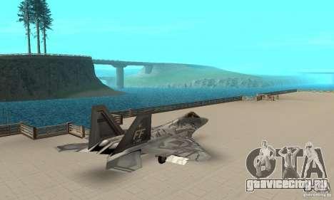 F-22 Starscream для GTA San Andreas вид сзади слева