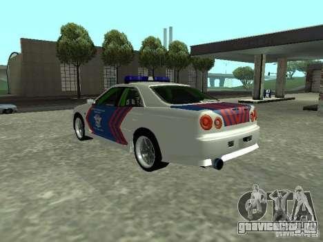 Nissan Skyline Indonesia Police для GTA San Andreas вид слева