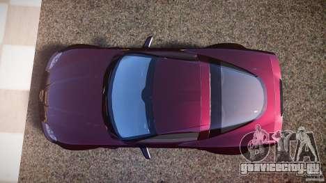 Chevrolet Corvette C6 Z06 для GTA 4 вид справа