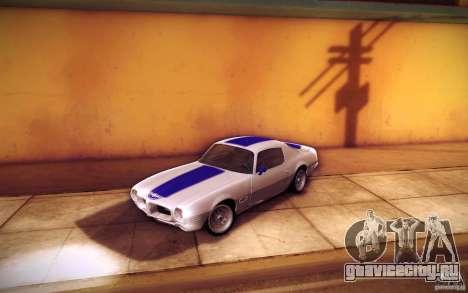 Pontiac Firebird 1970 для GTA San Andreas салон
