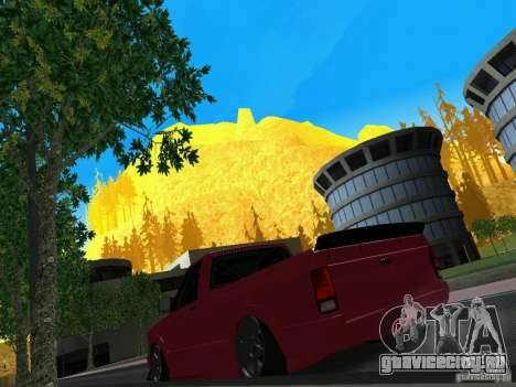 GMC Syclone Drift для GTA San Andreas вид сзади