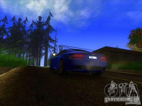 Aston Martin Virage 2011 Final для GTA San Andreas вид сзади