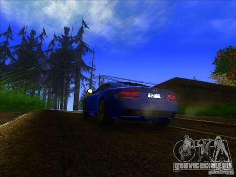 Aston Martin Virage 2011 Final для GTA San Andreas вид сзади
