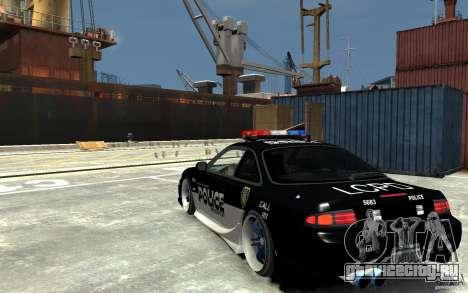 Nissan 200SX Police v0.2 для GTA 4 вид сзади слева