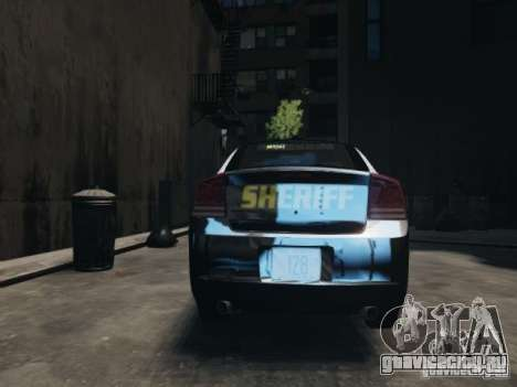 Dodge Charger Slicktop 2010 для GTA 4 вид справа