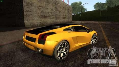 Lamborghini Gallardo SE для GTA San Andreas вид сзади