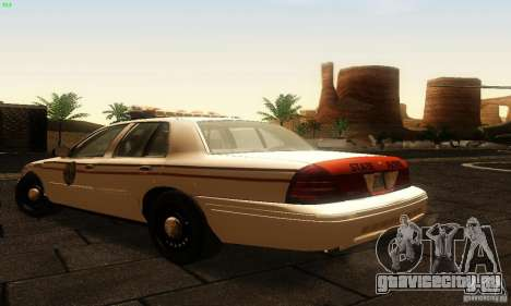 Ford Crown Victoria North Dakota Police для GTA San Andreas вид слева