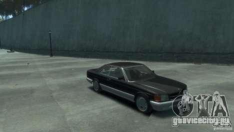 Mercedes-Benz w126 560SEC для GTA 4 вид справа