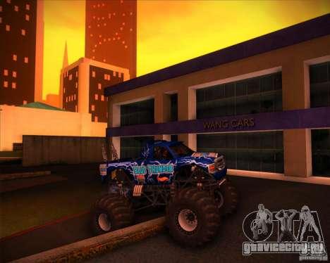 Monster Truck Blue Thunder для GTA San Andreas вид сверху
