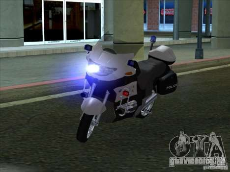 BMW R1150RT Cop copbike для GTA San Andreas