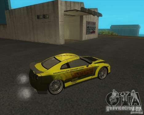Nissan GTR35 для GTA San Andreas вид сзади слева