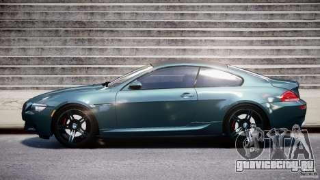 BMW M6 2010 v1.5 для GTA 4 вид изнутри