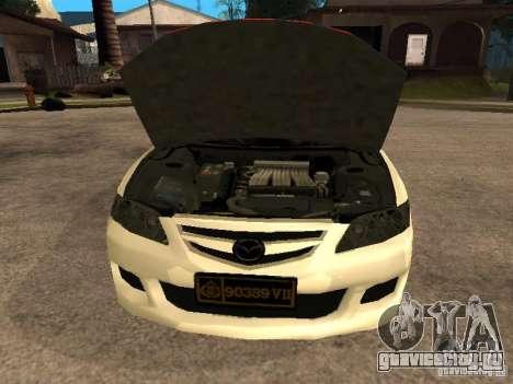Mazda 6 Police Indonesia для GTA San Andreas вид справа