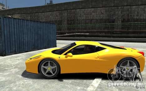 Ferrari 458 Italia 2010 v3.0 для GTA 4 вид слева