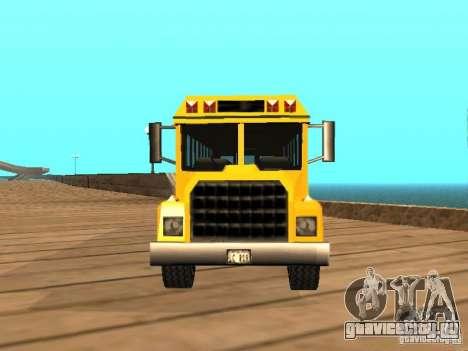 School bus для GTA San Andreas вид справа