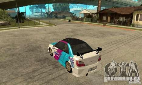 Subaru Impreza 2002 Tunable - Stock для GTA San Andreas салон