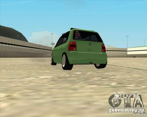 Volkswagen Lupo Hellaflush для GTA San Andreas вид сзади слева