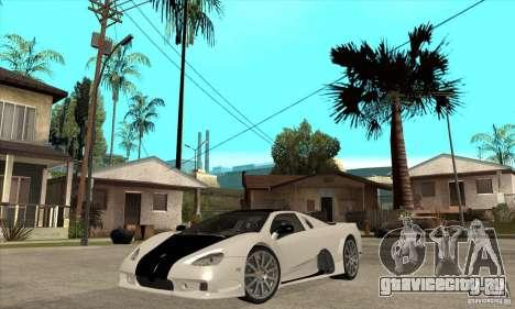 SSC Ultimate Aero FM3 version для GTA San Andreas