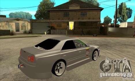 Nissan Skyline Er34 Street Drift для GTA San Andreas вид справа