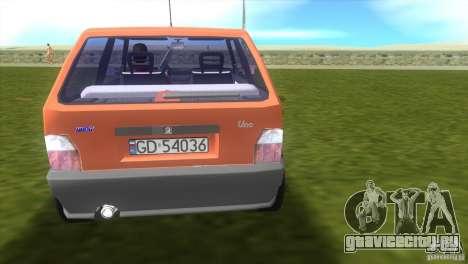 Fiat Uno для GTA Vice City вид сзади слева