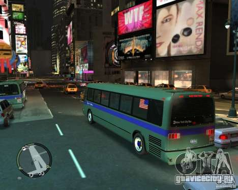 MTA NYC bus для GTA 4 вид слева