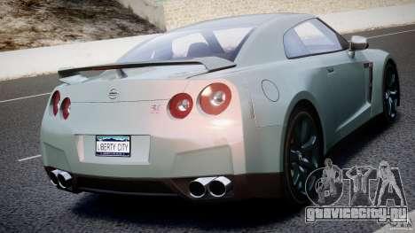 Nissan GT-R R35 2010 v1.3 для GTA 4 салон