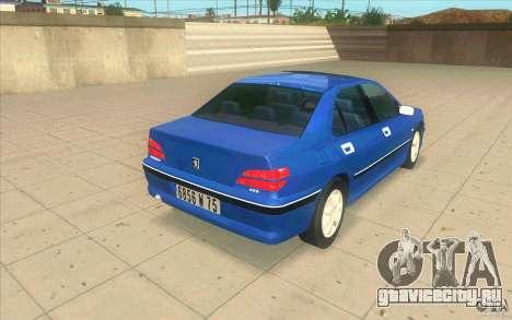 Peugeot 406 1.9 HDi для GTA San Andreas вид сзади слева