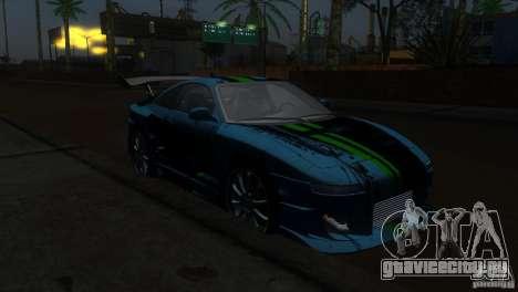 Toyota MR2 Drift для GTA San Andreas вид сзади