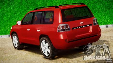 Toyota Land Cruiser 200 2007 для GTA 4 вид сбоку
