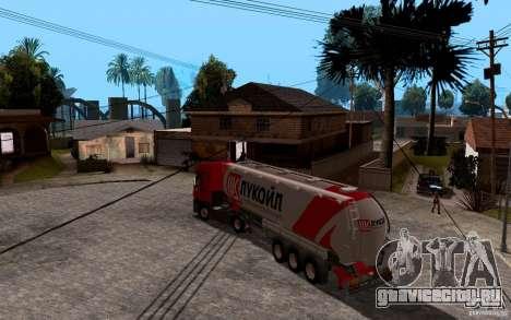 Прицеп Лукойл для Mercedes-Benz Actros для GTA San Andreas вид слева