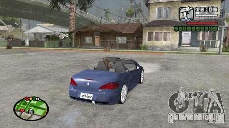 Peugeot 307 BMS Edition для GTA San Andreas вид сзади слева