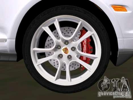 Porsche Cayenne Turbo S для GTA Vice City вид изнутри
