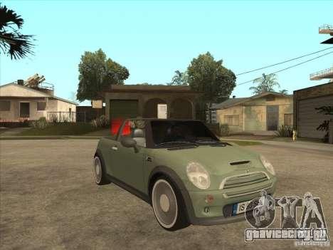 Mini Cooper S Cabrio для GTA San Andreas вид изнутри