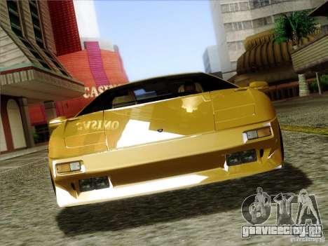 Lamborghini Diablo VT 1995 V3.0 для GTA San Andreas вид снизу