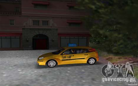 Ford Focus TAXI cab для GTA Vice City вид слева