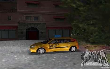 Ford Focus TAXI cab для GTA Vice City вид слева