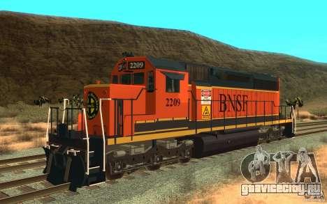 Локомотив SD 40 Union Pacific BNSF для GTA San Andreas