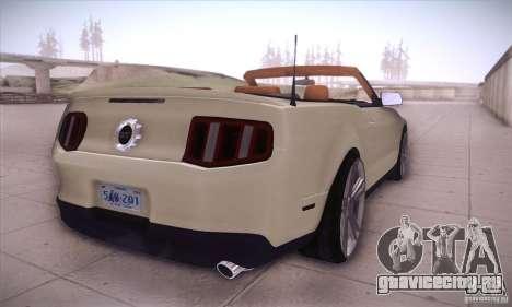 Ford Mustang 2011 Convertible для GTA San Andreas вид справа